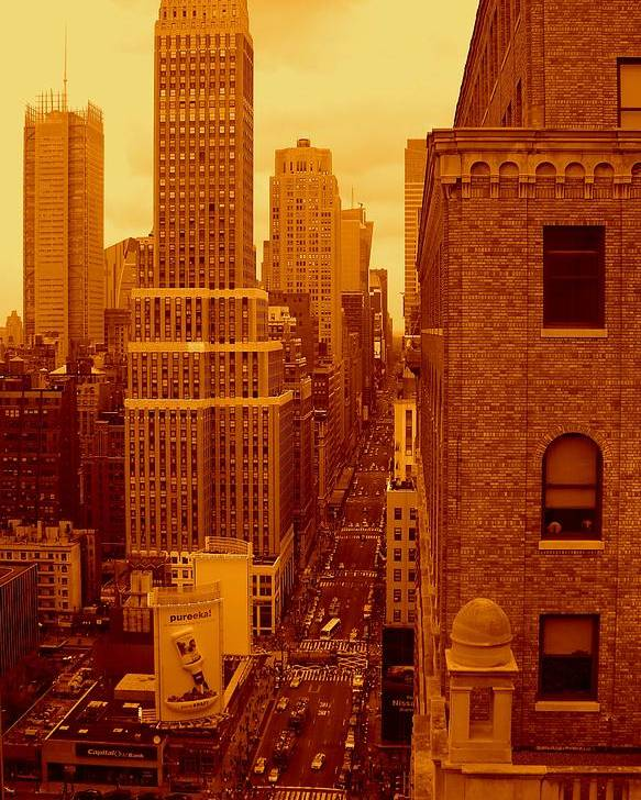 Manhattan Posters And Prints Poster featuring the photograph Top Of Manhattan by Monique Wegmueller