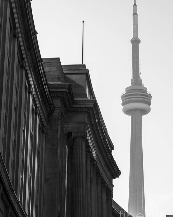 Toronto Poster featuring the photograph Toronto CN Tower by Matt Trimble