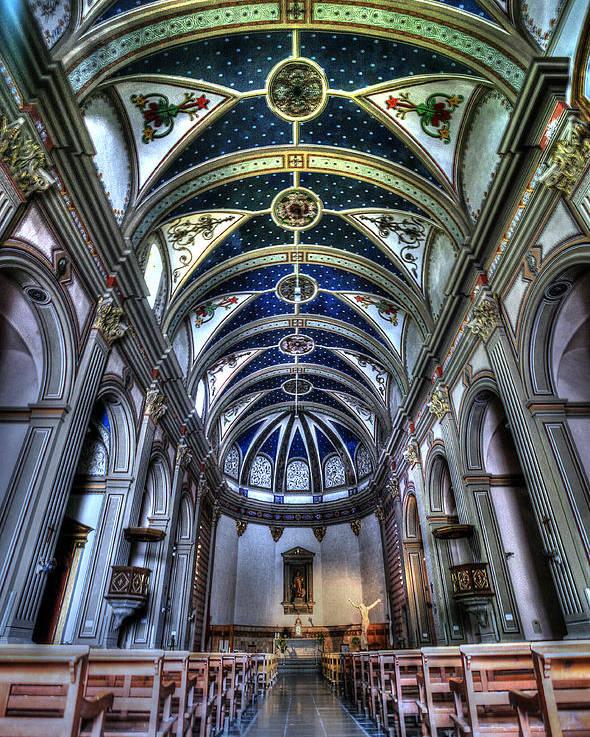 Tossa De Mar Church Poster featuring the photograph Tossa De Mar Church by Isaac Silman