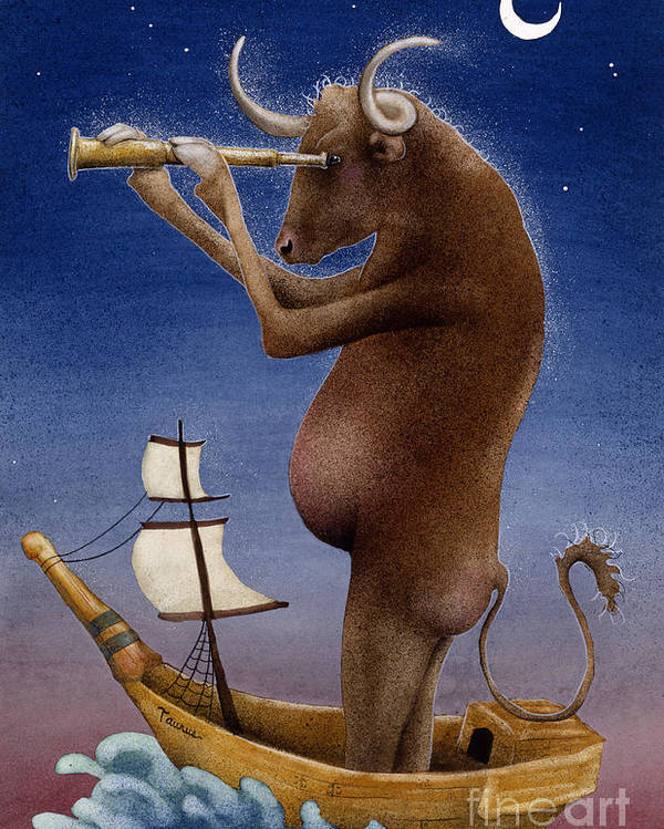 Will Bullas Poster featuring the painting Total Bull Ship... by Will Bullas