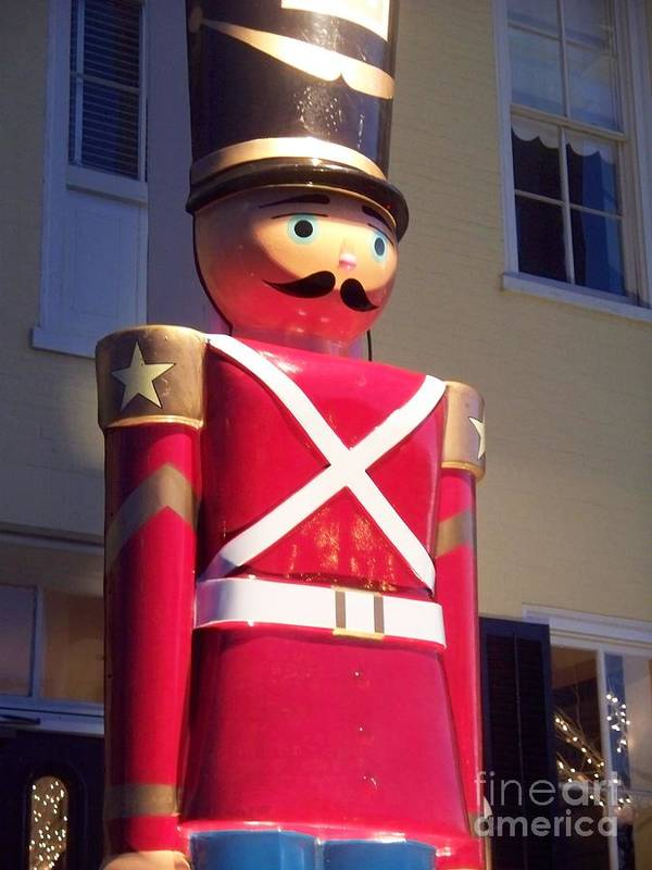 Toy Soldier Poster featuring the photograph Toy Christmas Soldier by Eric Schiabor