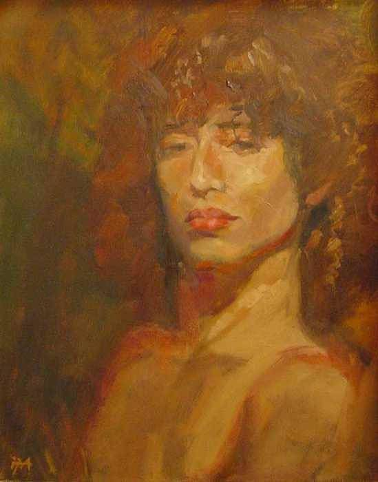 Portrait Poster featuring the painting Tracy by Irena Jablonski