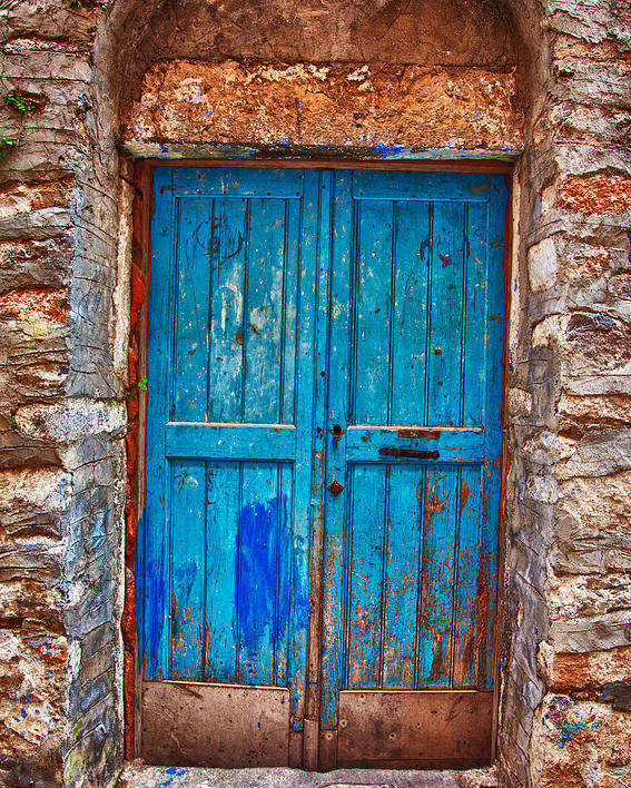 Old Poster featuring the photograph Traditional Door 2 by Emmanouil Klimis