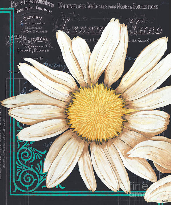 Daisy Poster featuring the painting Tranquil Daisy 2 by Debbie DeWitt