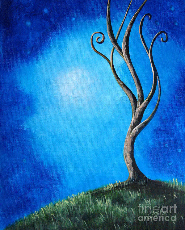 Tree Poster featuring the painting Tranquil Moments By Shawna Erback by Shawna Erback