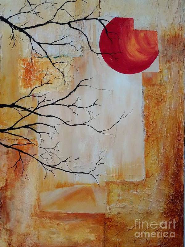Forest Poster featuring the mixed media Tranquility by Kat McClure