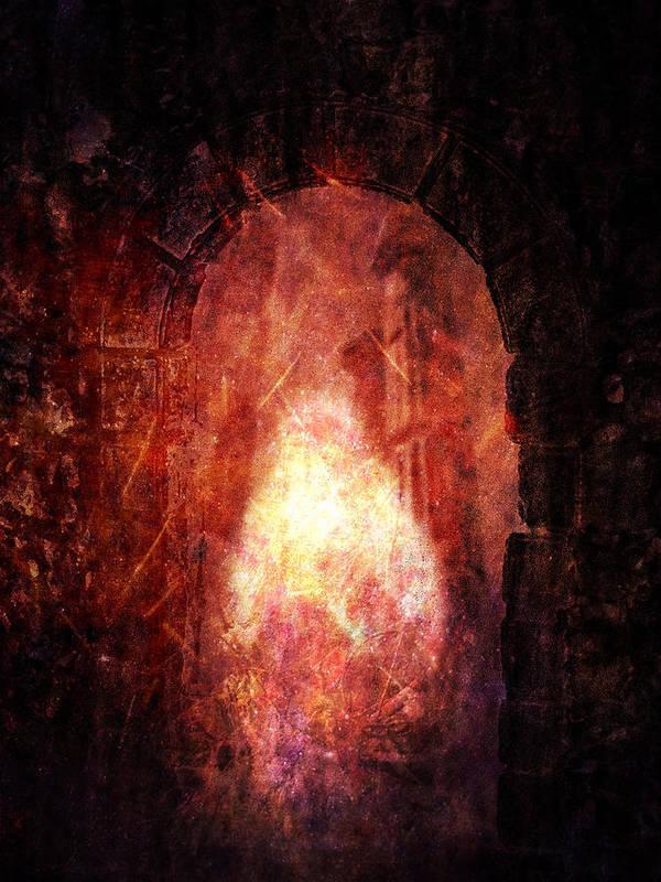 Transcending Poster featuring the digital art Transcending Sentinel by Panos Spiliadis