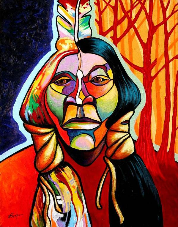 Native American Poster featuring the painting Transformation by Joe Triano