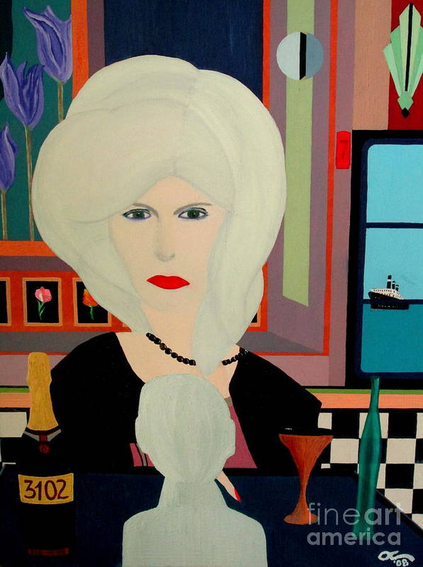 Bill O'connor Poster featuring the painting Travels With Auntie by Bill OConnor