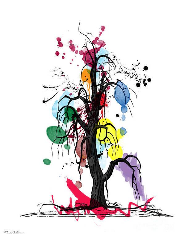 Tree Poster featuring the digital art Tree by Mark Ashkenazi