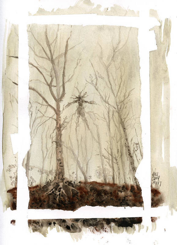 Trees Poster featuring the painting Treeman by Ken Meyer