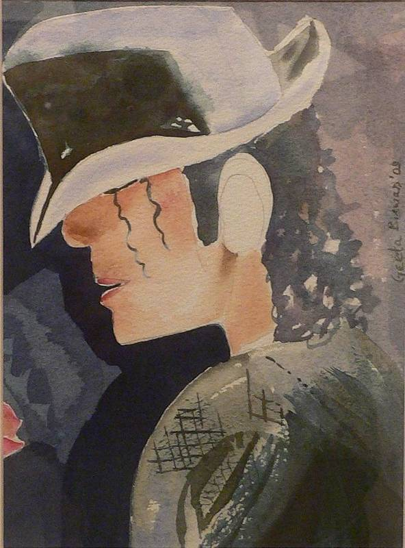 Michael Jackson Poster featuring the painting Tribute by Geeta Biswas