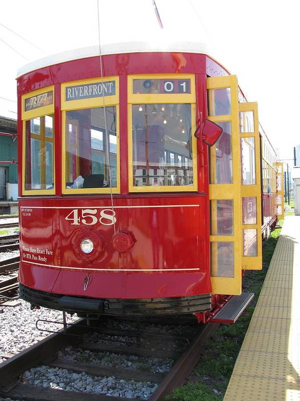 Transportation Poster featuring the photograph Trolley 458 by Steven Parker