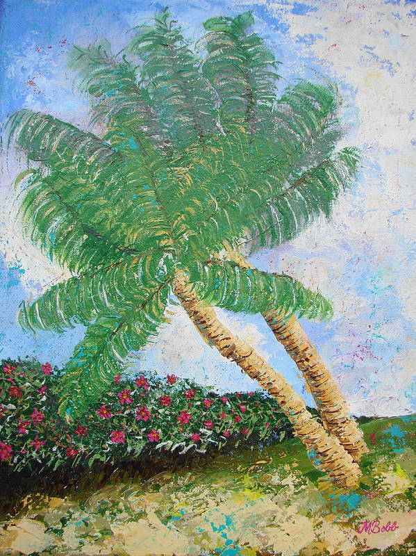 Tropical Poster featuring the painting Tropical Flair by Margaret Bobb