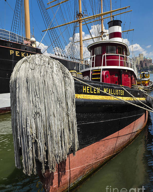 Tug Boat Poster featuring the photograph Tug Boat by Zbigniew Krol