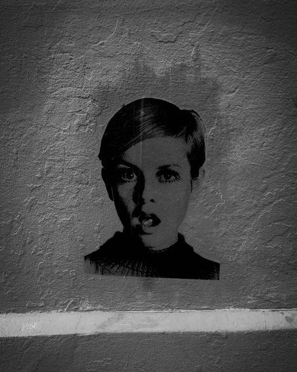 Twiggy Poster featuring the photograph Twiggy Street Art by Louis Maistros