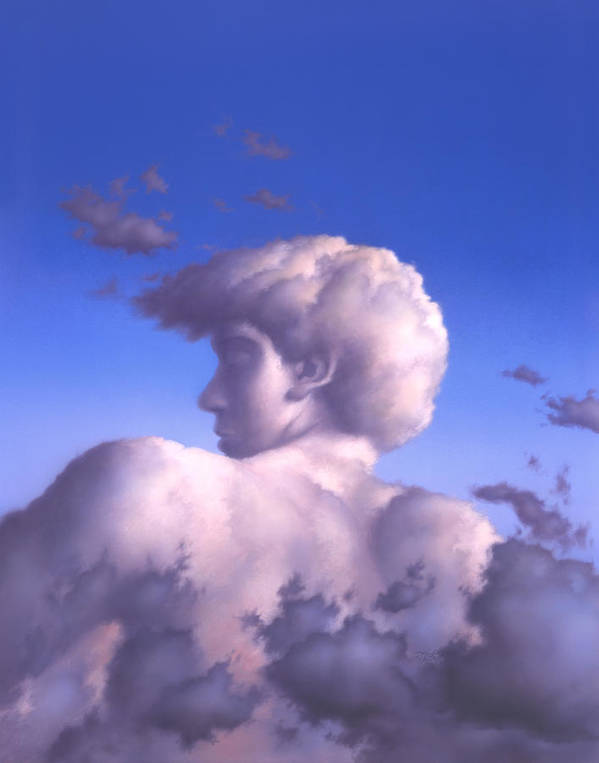 Clouds Poster featuring the painting Twilight by Jerry LoFaro