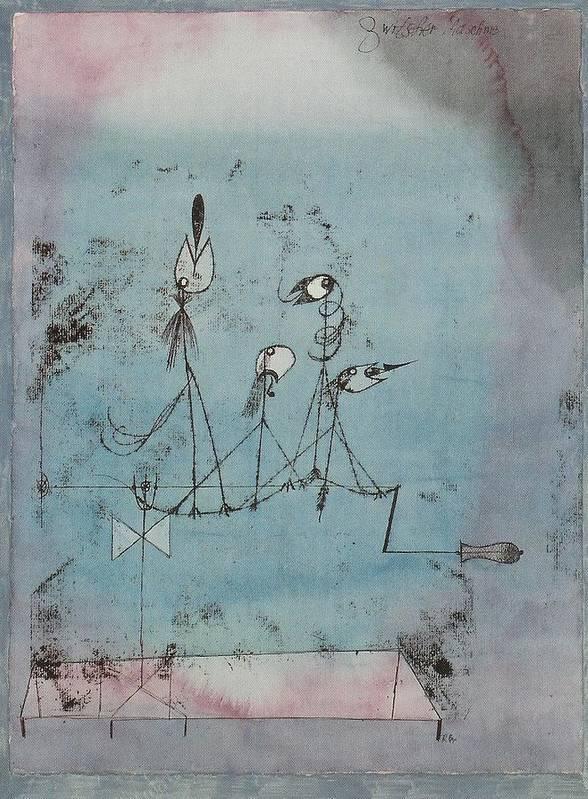 Twittering Machine PAUL KLEE Expressionism Surrealism Bauhaus Poster 1922