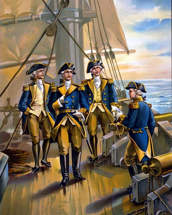 U.s. Navy - Commander In Chief Of Fleet - 1776 Poster featuring the digital art U S Navy Commander In Chief Of The Fleet by The Werner Company