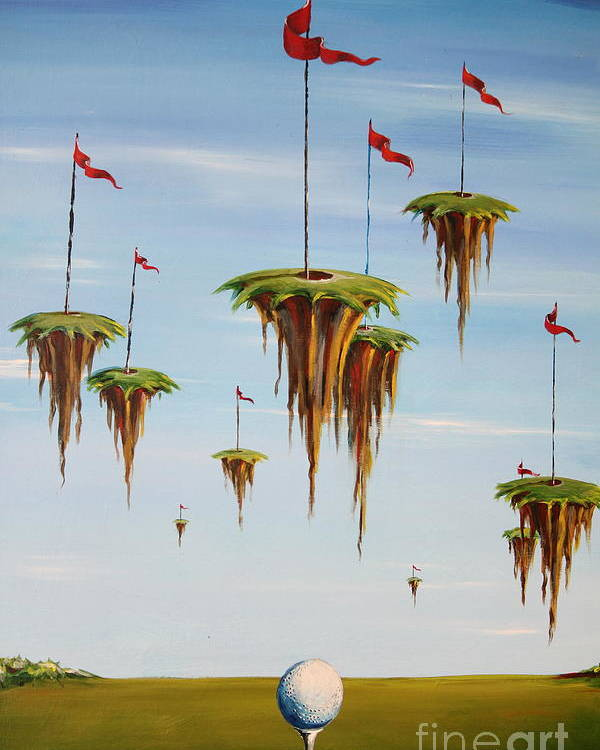 Surreal Poster featuring the painting Ulitimate Course by Sandra Scheetz-Wise
