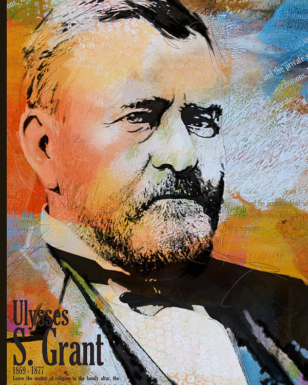 Ulysses S. Grant Poster featuring the painting Ulysses S. Grant by Corporate Art Task Force