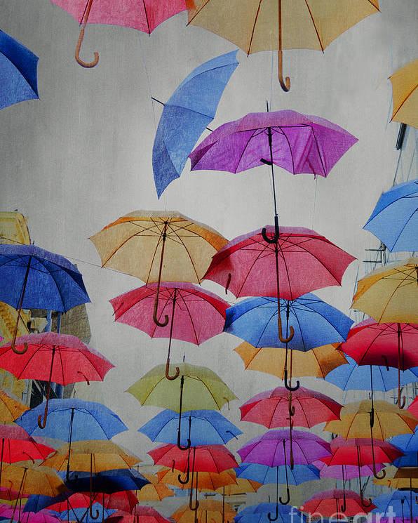 Art Poster featuring the photograph Umbrellas by Jelena Jovanovic