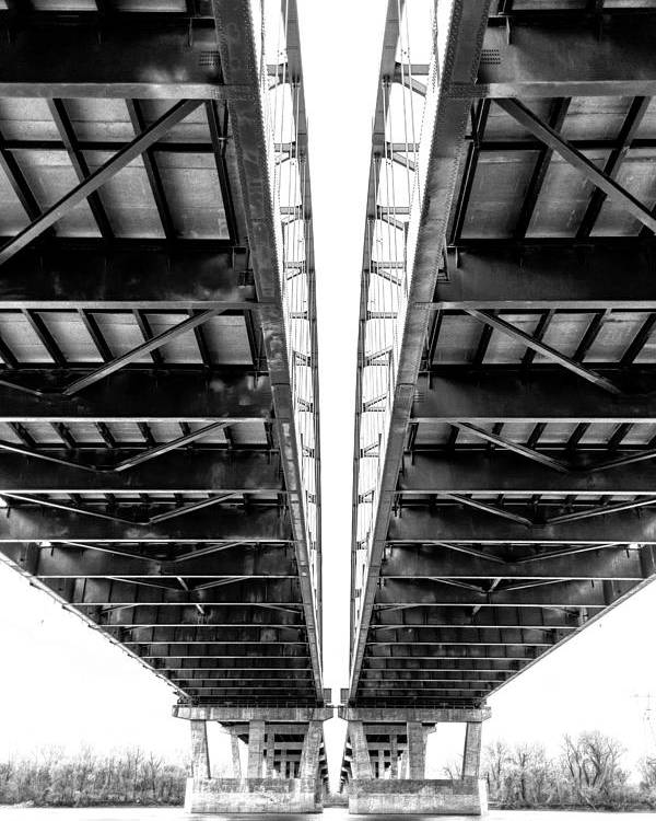 Bridge Poster featuring the photograph Under The Page Bridge by Bill Tiepelman