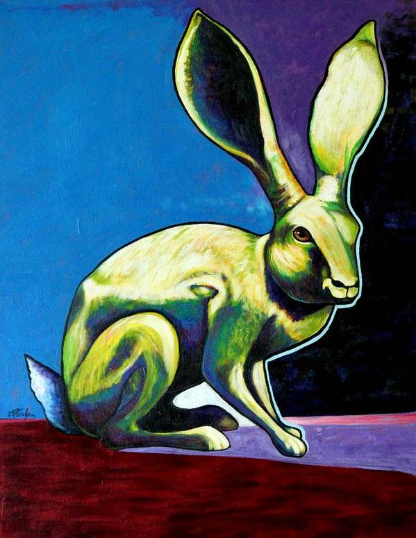 Hare Poster featuring the painting Under The Radar Jackrabbit by Joe Triano