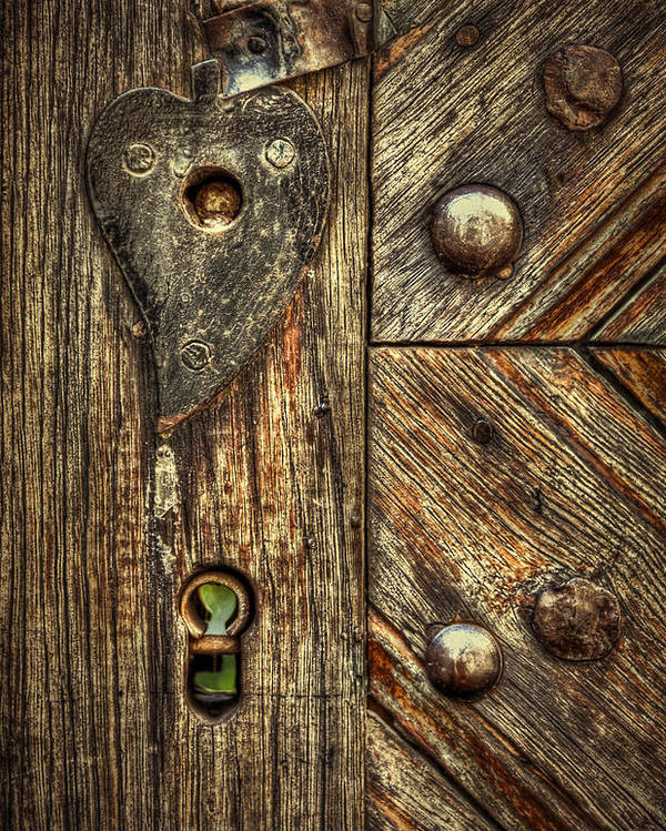 Wood Poster featuring the photograph Unlock My Heart by Evelina Kremsdorf