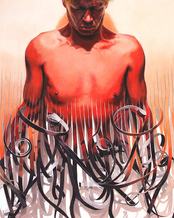 Figurative Poster featuring the painting Unraveled by Denny Bond