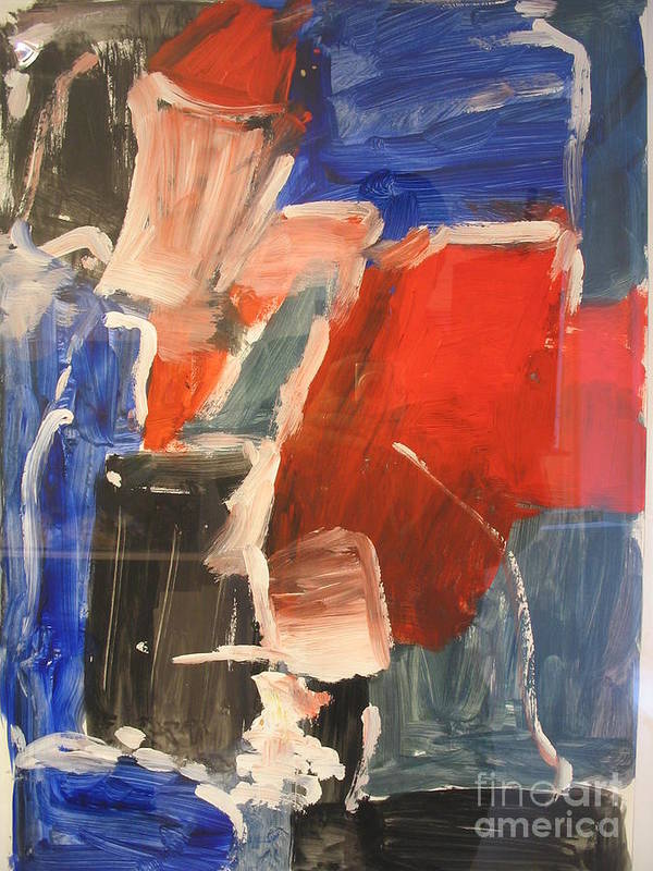 Abstract Poster featuring the painting Untitled Composition I by Fereshteh Stoecklein