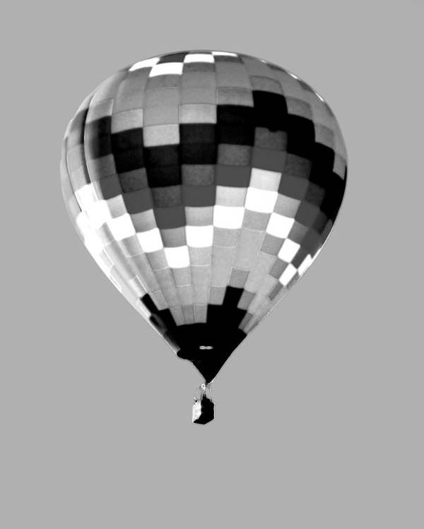 Balloon Poster featuring the photograph Up Up And Away In Infra Red by Jim Martin