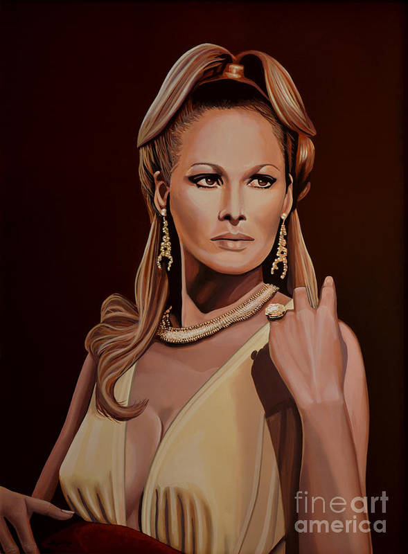 Ursula Andress Poster featuring the painting Ursula Andress by Paul Meijering