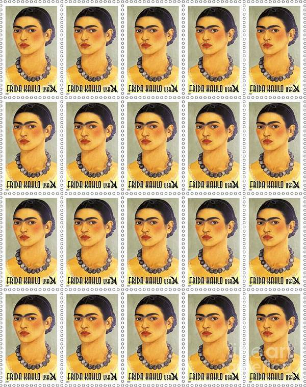 Pd Poster featuring the painting Usps Frida Kahlo by Pg Reproductions