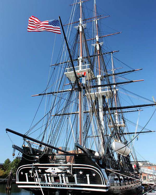 Uss Constitution Poster featuring the photograph Uss Constitution by Kristin Elmquist