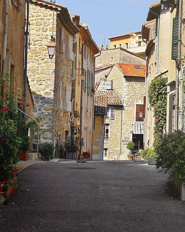Valbonne Poster featuring the photograph Valbonne - French Village Of Contradictions by Christine Till
