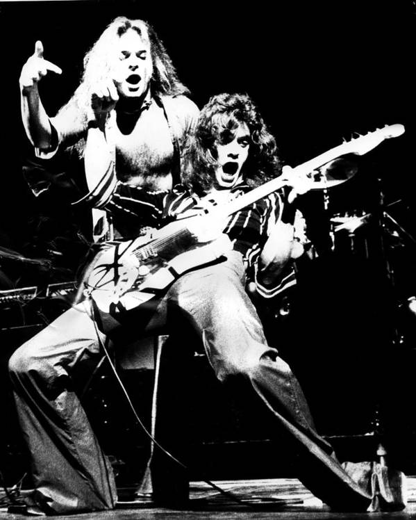 Van Halen Poster featuring the photograph Van Halen by Sue Arber
