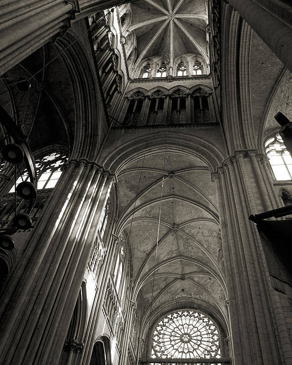 Vaults Poster featuring the photograph Vaults Of Rouen Cathedral by RicardMN Photography