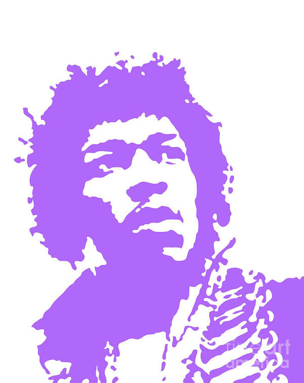 Jimi Hendrix Poster featuring the digital art Vector Hendrix by Steve Young