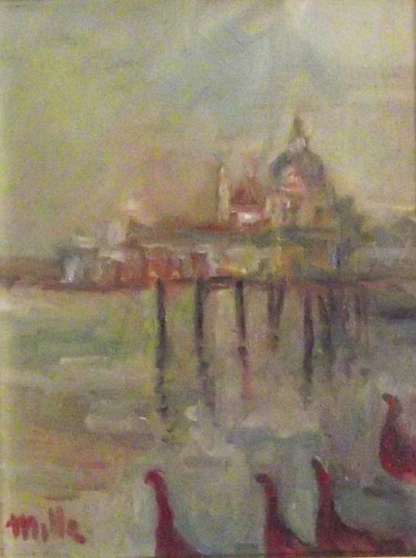 Sunset Poster featuring the painting Venice by Milla Nuzzoli