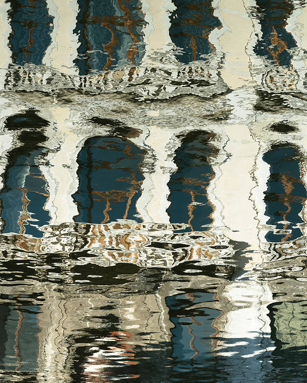Reflection Invert Venezia Veneto Italia Venice Italy Water Channel Poster featuring the photograph Venice by Pedro Nunez