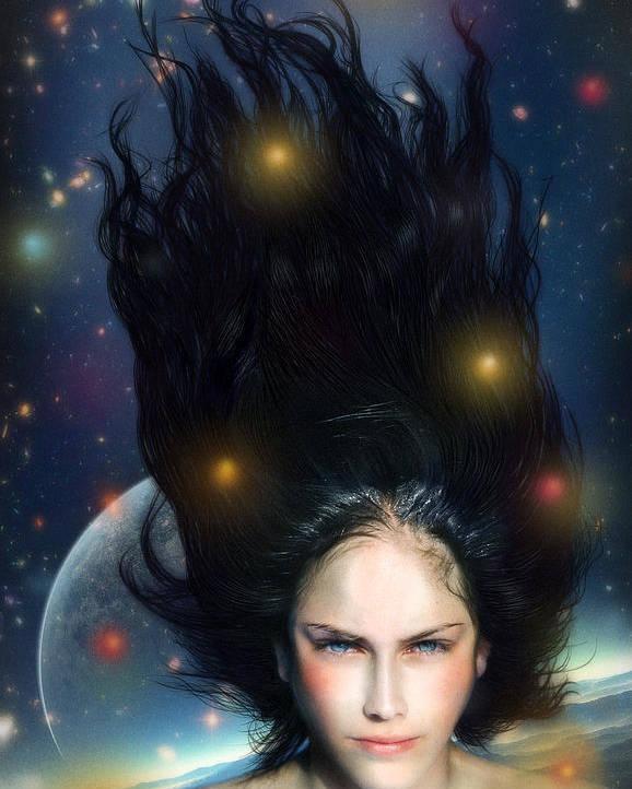 Venus Poster featuring the digital art Venus by Alessandro Della Pietra