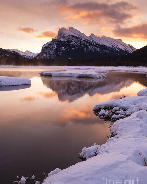 Banff Poster featuring the photograph Vermillion Lakes In Banff National Park by Ginevre Smith