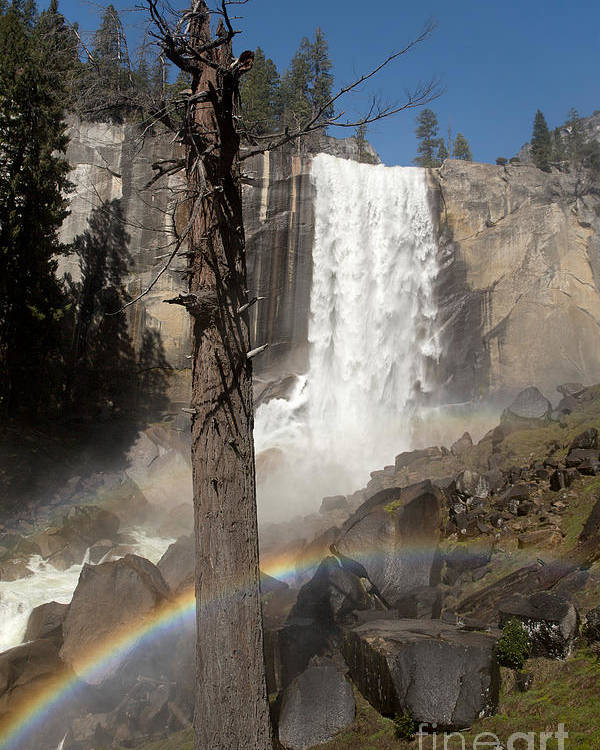 Adventure Poster featuring the photograph Vernal Falls With Rainbow by Jane Rix