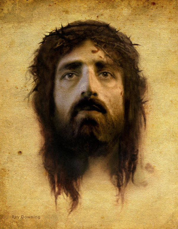 Jesus Poster featuring the digital art Veronica's Veil by Ray Downing