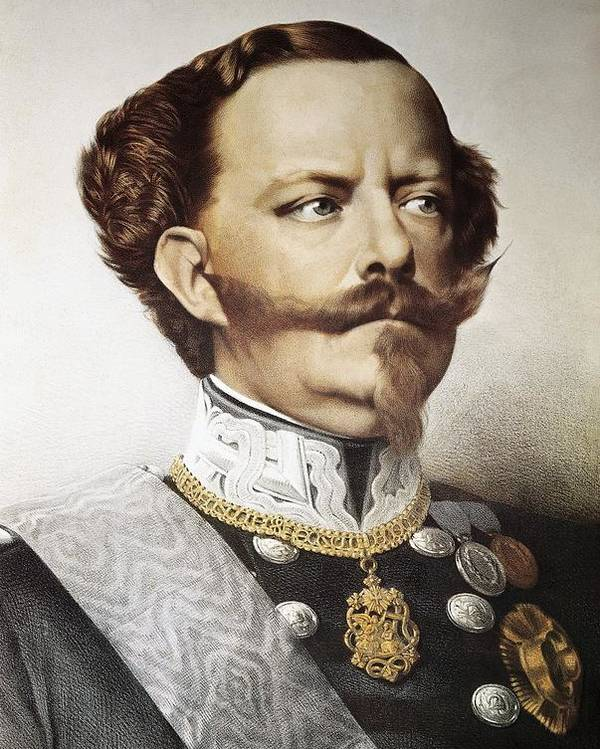 Vertical Poster featuring the photograph Victor Emmanuel II 1820-1878 by Everett