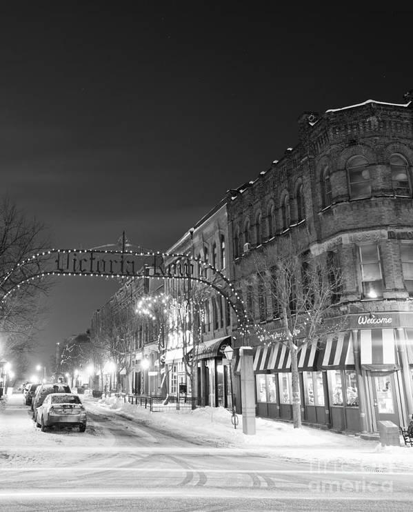 Victoria Row Black And White by John Morris