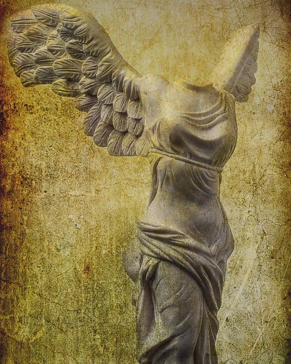 Winged Victory Poster featuring the photograph Victory Abstract by Garry Gay