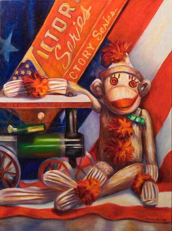 4th Of July Poster featuring the painting Victory by Shannon Grissom