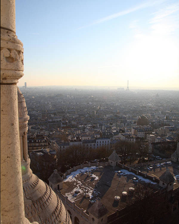 And Poster featuring the photograph View From Basilica Of The Sacred Heart Of Paris - Sacre Coeur - Paris France - 011310 by DC Photographer